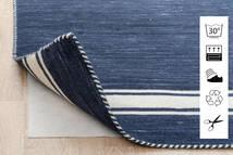 Anti Slip, Non-Woven Rug 130X190 Modern Blue/Light Grey ( Belgium)