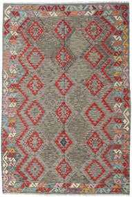 Kilim Afghan Old Style Rug 169X251 Authentic  Oriental Handwoven Light Grey/Dark Grey (Wool, Afghanistan)