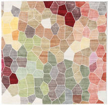 Play Of Colours Rug 150X150 Modern Square Light Grey/Beige ( Turkey)