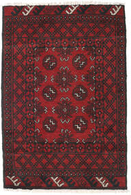 Afghan Rug 78X115 Authentic  Oriental Handknotted Dark Red/Black (Wool, Afghanistan)