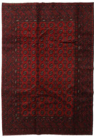 Afghan Rug 198X285 Authentic  Oriental Handknotted Dark Red (Wool, Afghanistan)