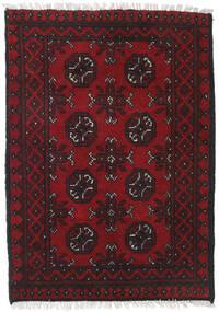 Afghan Rug 76X117 Authentic  Oriental Handknotted Dark Red/Black (Wool, Afghanistan)