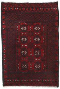 Afghan Rug 80X113 Authentic  Oriental Handknotted Dark Red/Black (Wool, Afghanistan)