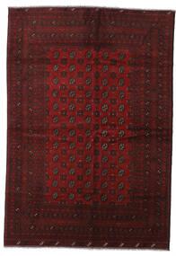 Afghan Rug 200X288 Authentic  Oriental Handknotted Dark Red (Wool, Afghanistan)