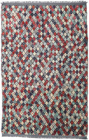 Moroccan Berber - Afghanistan Rug 202X300 Authentic  Modern Handknotted Dark Grey/Beige (Wool, Afghanistan)
