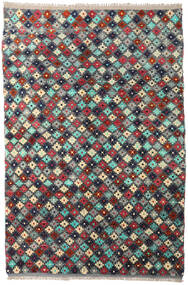 Moroccan Berber - Afghanistan Rug 204X298 Authentic  Modern Handknotted Dark Grey/Dark Red (Wool, Afghanistan)