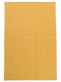 Kilim Loom - Yellow Rug 160X230 Authentic  Modern Handwoven Light Brown/Yellow (Wool, India)