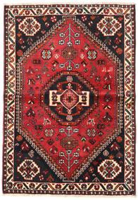 Shiraz Rug 106X154 Authentic Oriental Handknotted Black/Dark Red (Wool, Persia/Iran)