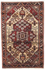 Saveh Rug 110X170 Authentic Oriental Handknotted Beige/Dark Brown (Wool, Persia/Iran)