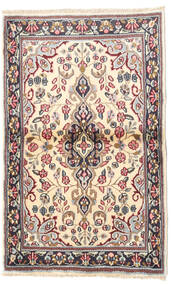 Kerman Rug 90X140 Authentic  Oriental Handknotted Beige/Dark Grey (Wool, Persia/Iran)