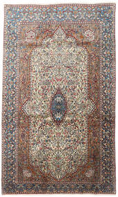 Kerman Rug 177X295 Authentic  Oriental Handknotted Dark Red/Light Grey (Wool, Persia/Iran)