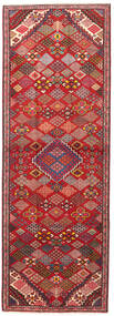 Joshaghan Rug 102X293 Authentic  Oriental Handknotted Hallway Runner  Dark Red/Rust Red (Wool, Persia/Iran)