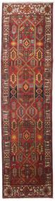 Heriz Rug 100X383 Authentic Oriental Handknotted Hallway Runner Dark Red/Light Brown (Wool, Persia/Iran)
