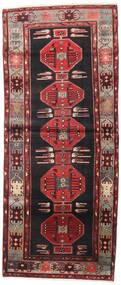 Hamadan Rug 115X275 Authentic  Oriental Handknotted Hallway Runner  Black/Dark Red (Wool, Persia/Iran)