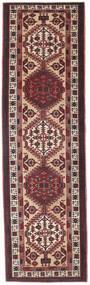Sarab Patina Rug 100X345 Authentic  Oriental Handknotted Hallway Runner  Dark Brown/Dark Red (Wool, Persia/Iran)