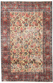 Mashad Patina Rug 185X285 Authentic Oriental Handknotted Light Brown/Dark Grey (Wool, Persia/Iran)