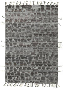 Barchi/Moroccan Berber - Indo Rug 159X239 Authentic  Modern Handknotted Dark Grey/Light Grey (Wool, India)