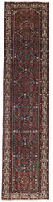 Hamadan Patina Rug 78X340 Authentic  Oriental Handknotted Hallway Runner  Dark Brown/Dark Red (Wool, Persia/Iran)
