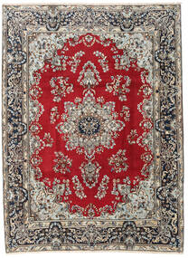 Yazd Rug 222X297 Authentic  Oriental Handknotted Light Grey/Crimson Red (Wool, Persia/Iran)