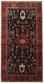 Heriz Rug 155X300 Authentic Oriental Handknotted Hallway Runner Dark Brown/Dark Red (Wool, Persia/Iran)