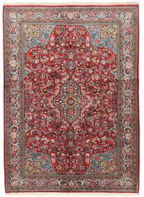Sarouk Rug 133X183 Authentic  Oriental Handknotted Dark Red/Beige (Wool, Persia/Iran)