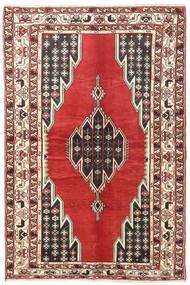 Saveh Rug 125X200 Authentic Oriental Handknotted Beige/Rust Red/Dark Brown (Wool, Persia/Iran)
