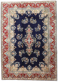 Kerman Rug 190X270 Authentic  Oriental Handknotted Dark Purple/Light Brown (Wool, Persia/Iran)
