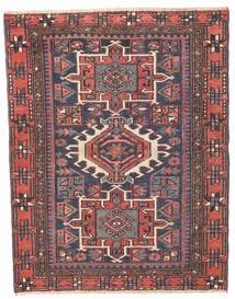 Heriz Patina Rug 96X123 Authentic Oriental Handknotted Dark Grey/Rust Red (Wool, Persia/Iran)