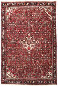 Hamadan Patina Rug 135X202 Authentic Oriental Handknotted Dark Brown/Crimson Red (Wool, Persia/Iran)