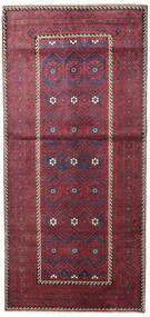 Baluch Patina Rug 116X252 Authentic  Oriental Handknotted Dark Grey/Crimson Red (Wool, Persia/Iran)
