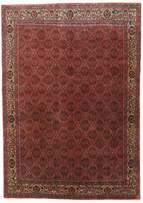 Bidjar Zanjan Rug 202X288 Authentic  Oriental Handknotted Dark Red/Dark Brown (Wool, Persia/Iran)