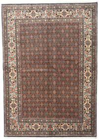 Moud Rug 168X240 Authentic  Oriental Handknotted Dark Grey/Dark Red (Wool/Silk, Persia/Iran)