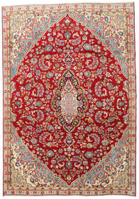 Kerman Rug 210X300 Authentic  Oriental Handknotted Dark Red/Rust Red (Wool, Persia/Iran)