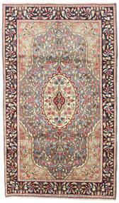 Kerman Rug 120X200 Authentic  Oriental Handknotted Light Brown/Beige (Wool, Persia/Iran)
