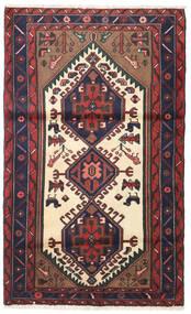 Saveh Rug 98X160 Authentic Oriental Handknotted Dark Red/Black (Wool, Persia/Iran)