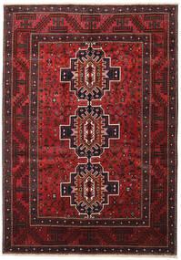 Shiraz Rug 208X298 Authentic  Oriental Handknotted Dark Red/Black (Wool, Persia/Iran)