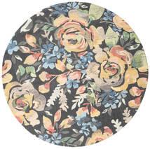 Colette - Multi Rug Ø 200 Modern Round Dark Grey/Dark Beige (Wool, India)