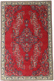Najafabad Patina Rug 205X315 Authentic  Oriental Handknotted Dark Red/Crimson Red (Wool, Persia/Iran)
