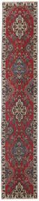 Tabriz Patina Rug 80X430 Authentic Oriental Handknotted Hallway Runner Dark Red/Dark Brown (Wool, Persia/Iran)