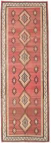 Kilim Fars Rug 155X460 Authentic Oriental Handwoven Hallway Runner Dark Red/Dark Brown (Wool, Persia/Iran)