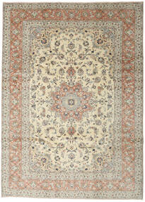 Yazd Rug 248X345 Authentic  Oriental Handknotted Light Grey/Dark Beige (Wool, Persia/Iran)