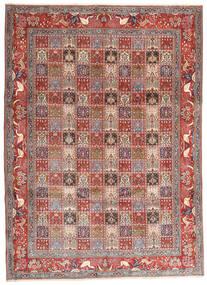 Moud Rug 243X338 Authentic  Oriental Handknotted Dark Red/Beige (Wool/Silk, Persia/Iran)