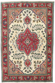 Tabriz Patina Rug 95X145 Authentic Oriental Handknotted Beige/Black (Wool, Persia/Iran)