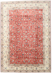 Yazd Rug 285X405 Authentic  Oriental Handknotted Beige/Light Pink Large (Wool, Persia/Iran)