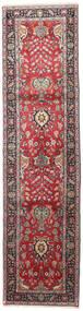 Tabriz Rug 85X340 Authentic  Oriental Handknotted Hallway Runner  Dark Red/Black (Wool, Persia/Iran)