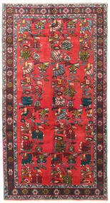 Ardebil Rug 139X256 Authentic Oriental Handknotted Dark Brown/Crimson Red (Wool, Persia/Iran)