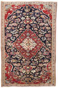 Yazd Rug 145X220 Authentic Oriental Handknotted Dark Purple/Dark Red (Wool, Persia/Iran)