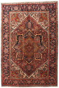 Heriz Rug 195X290 Authentic  Oriental Handknotted Dark Brown/Dark Red (Wool, Persia/Iran)