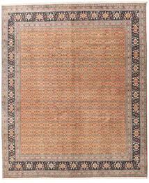 Tabriz 40 Raj Rug 245X297 Authentic  Oriental Handknotted Dark Brown/Dark Red (Wool/Silk, Persia/Iran)