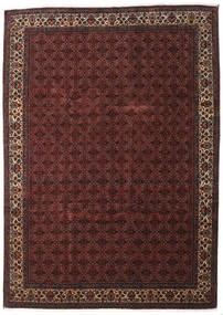 Bidjar With Silk Rug 259X357 Authentic  Oriental Handknotted Dark Red/Dark Brown Large (Wool/Silk, Persia/Iran)